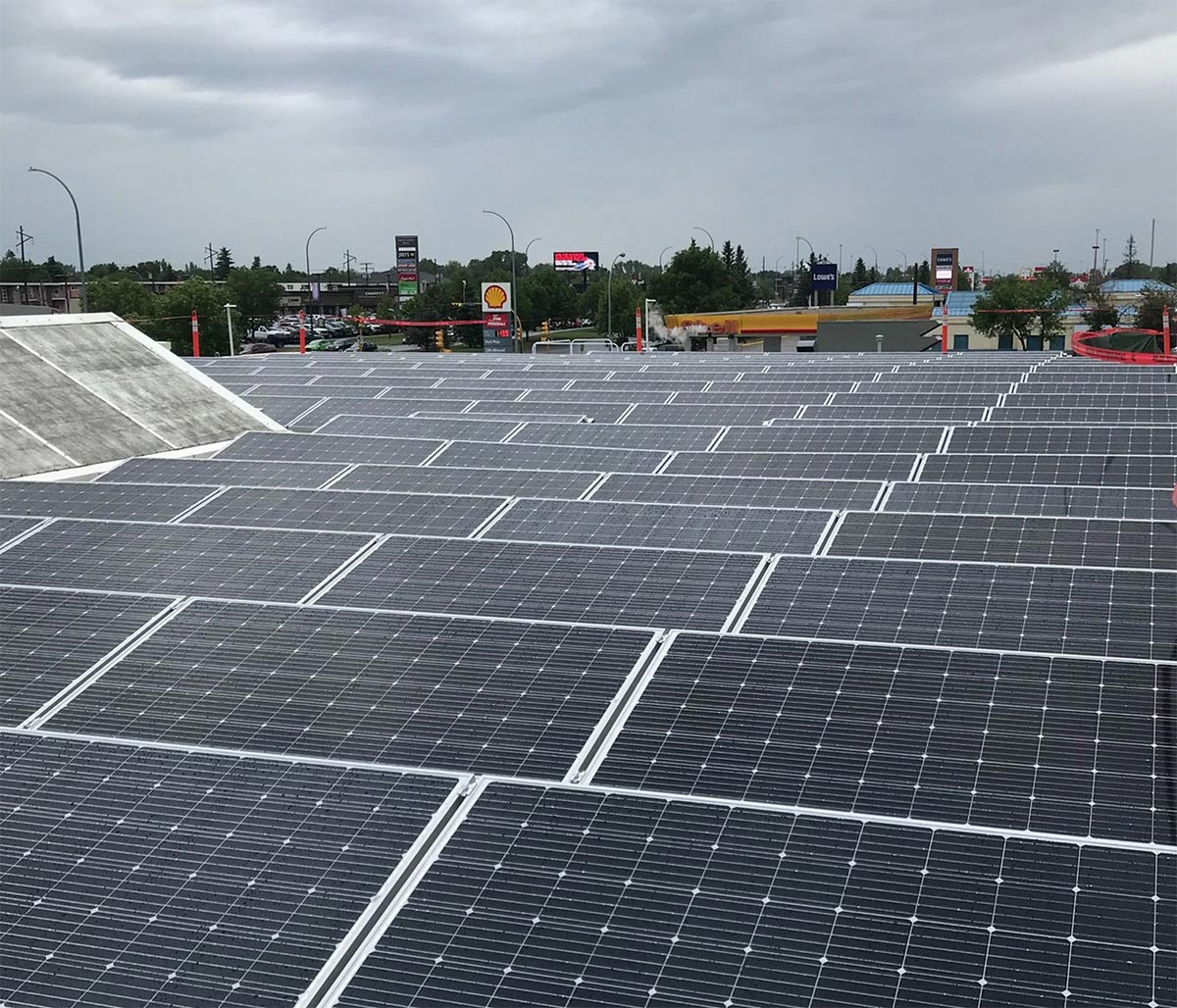 Wascana Solar Co-operative's Commercial Installation at Conexus Credit Union, Regina, Saskatchewan.
