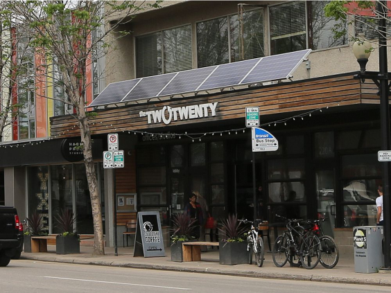 The SES Solar Co-Op has installed solar panels at the TwoTwenty building in Saskatoon. MICHELLE BERG/Saskatoon StarPhoenix
